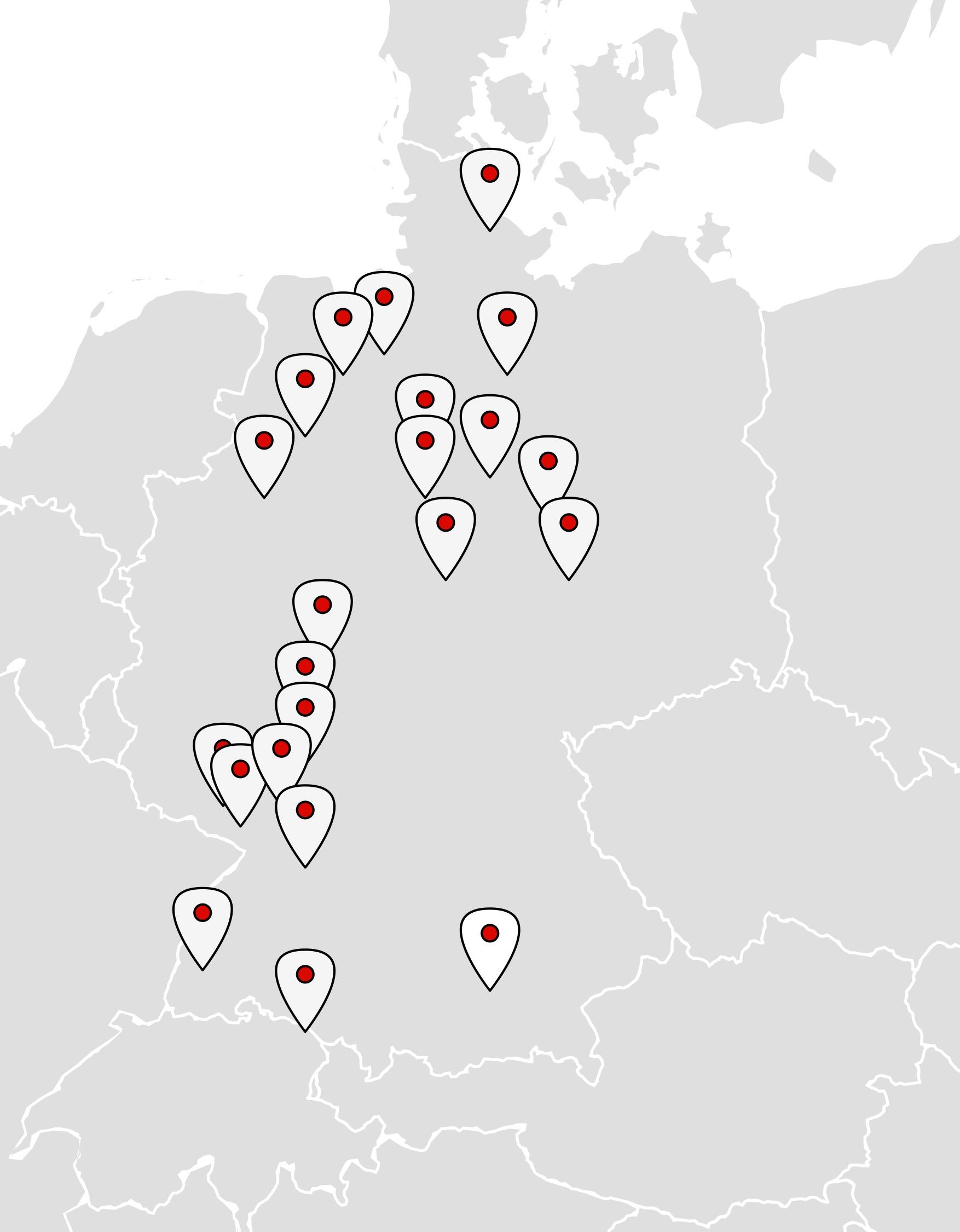 Landkarte mit Vortragenden